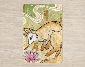 Discontinued Item / Smoke 2 / Kitsune Fox Yokai / 4x6 Glossy Postcard Rounded Corners