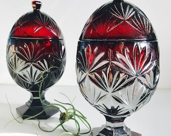 Luminarc Ruby Egg Candy Dishes