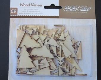 Studio Calico Wood Veneer - Die Cut Wood Tree Pieces