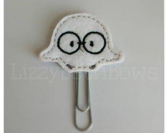 Planner clip, bookmark, planner feltie clip, felt bookmark, white owl feltie clip, hedwig, harry potter inspired clip