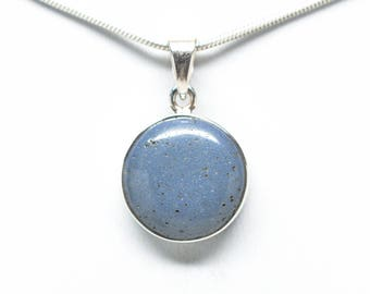 Leland Blue - Sterling Silver Pendant - 16mm Round