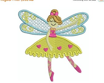 ON SALE DANCE Fairy 6 - Machine Embroidery - Instant Digital Download