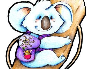 Back Packing Koala Sticker