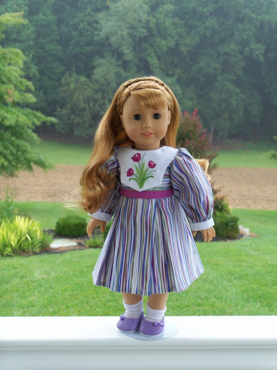 "Maryellen's Embroidered School Dress / Doll Clothes for American Girl® Kit, Melody, Maryellen or Other 18"" Doll"