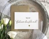 Groom Gift, To My Groom Card, Future Husband, Bride to Groom, To My Future Husband Card, Wedding Day Card, Future Husband Gift