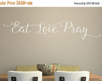 20% OFF Eat Love Pray -Vinyl Lettering wall decals words family bedroom art hallway love stickers decal graphics Home decor itswritt
