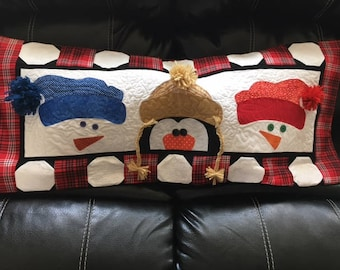 Christimas Quilted Bench Pillow Cover