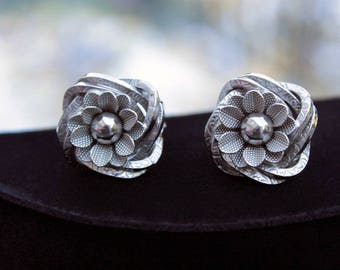 Love Knot and Flower Earrings, ca. 1960s
