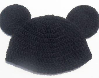 Mickey Mouse Beanie, Mouse Ears Beanie, Mouse Beanie