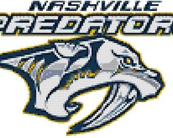 AHL Nashville Predators Cross Stitch Pattern