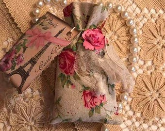 Beautiful all cotton Rose Bags