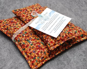 Spa Gift Set, Corn Heating Pad, Corn Bag, Relaxation Gift, Gift For Her, Microwave Heat Pack, Cold Pack, Gift for Him -- Harvest - LAST ONE