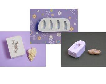 Lot moules cigales raisin sabot en silicone blanc souple de qualité supérieure