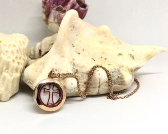 Cross diffuser necklace- customize