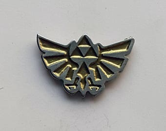 Hand Cast Zelda Tri-force Lapel Pin