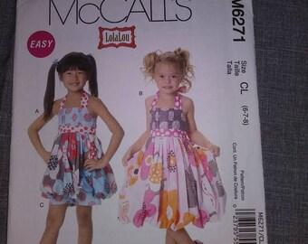 McCall 6271 girls dress  Pattern, UNCUT, sz 6_7_8