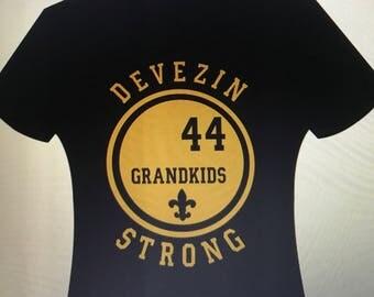 Devezin family grandchild shirt with last name