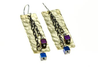 Rectangle Collection Brass and Titanium Cubes