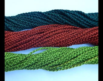 Wholesale! Sell Woven rope ,1 Strand,40CM In The Length,Atrovirens,Red,Prasinous,