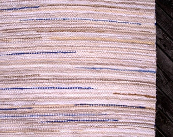 Large handwoven rag rug , Scandinavian style,Vintage look  8'x 5'  custom colour, MADE TO ORDER