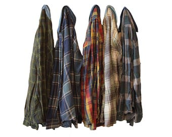 PICK ONE Flannel Shirt with Denim Collar