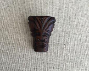 Marquesan style tiki brooch