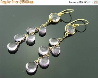Amethyst 14K Gold Filled Gemstone Cascade Earrings
