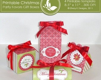 40% off Printable Christmas party favors gift boxes ////// 001