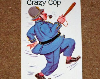 Vintage Old Maid Game Replacement Card - Whitman - Crazy Cop