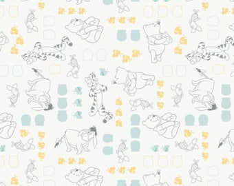 """14"""" of Winnie the Pooh Characters in White by Camelot Design Studio"""
