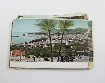 SALE - 10 Vintage Portugal Postcards - DAMAGED - Collage, Mixed Media, Scrapbooking, Assemblage, Paper Craft, Travel Journal Supplies