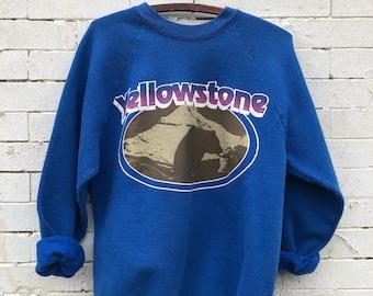 Vintage Yellowstone National Park Oversized Sweatshirt- Size Large