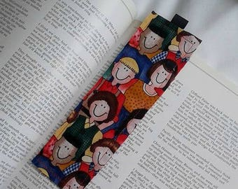 School Children Bookmark / Fabric Bookmark / School Children / Bookmark