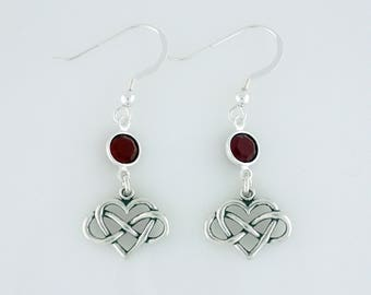 Heart with Infinity Symbol Earrings Sterling Silver Swarovski Crystal Accents Forever Love