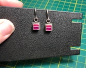 Square Earrings- RESERVED/Made for Isabelle P