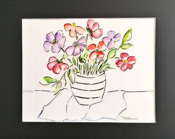 Painting, Original Watercolor, Wall Art, Painting, Floral, Expressionist, Impressionist, Original, Wall Art, wall Decor, Painting,