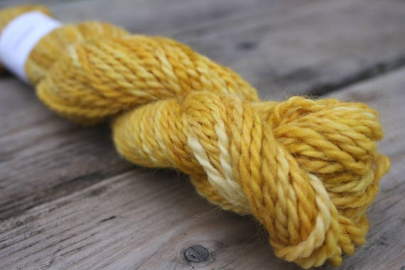 Goldenrod Yellow Baby Llama Yarn, self striping yarn