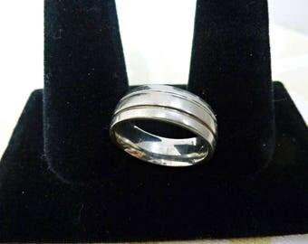 Titanium Wedding Promise or Commitment Band Sz.9