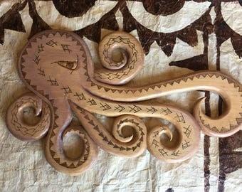 He'e Hawaiian Octopus wood piece