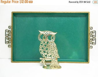 40% OFF NOW Torino Gold Metal Owl Pierced Earring Holder, Earring Display Owl, Home Decor Owl, Seventies Decor, Gift for Her, Kitsch Little