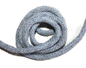 3 mm Gray Cotton Rope = 5 Yards = 4.57 Meters of Elegant Cotton Braided Cord - Bulky Yarn - Super Bulky Yarn - Macrame Cotton Cord