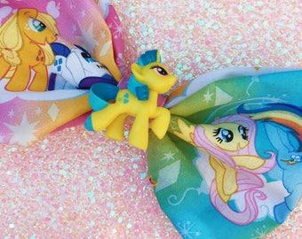 Lemon Hearts MLP Hairbow, Lemon Hearts Bow, Lemon Hearts My Little Pony, My Little Pony G4, G4 Lemon Hearts Hairbow