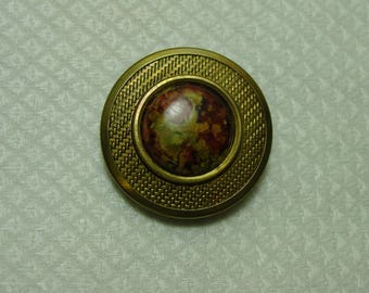 Vintage Antique Button Gay Nineties Metal and Celluloid 1 3/8