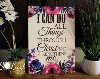 Philippians 4:13 wall art