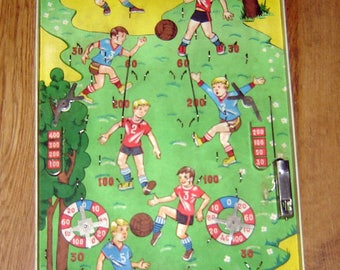 Antique Old vINTAGE RUSSIAN USSR PINBALL 1960s Board Game Toy Football Soccer