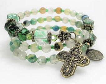 Rosary Rosary Bracelet Rosary Wrap Bracelet Wrap Rosary Bracelet Catholic Bracelet Religious Bracelet Confirmation Bracelet Prayer Beads 533