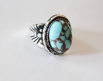Turquoise Ring, silver ring