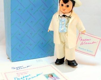"""Madame Alexander Rhett Butler Gone with the Wind White Outfit  8"""" box"""