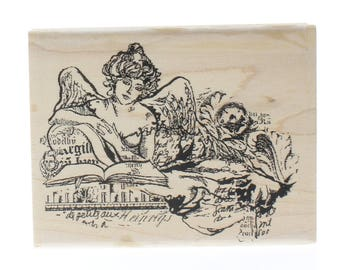 Valeria Woman Victorian Inspired Lady Stampington And Co Wooden Rubber Stamp