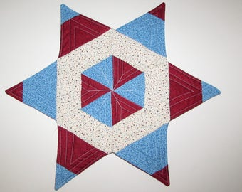 Patriotic/ Valentine's Day Candle Mat or Table Topper